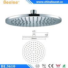Beelee - Cabeza de ducha de agua de alta presión para techo, 10 pulgadas