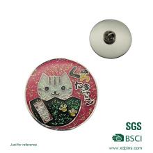 Insignia de botón de hojalata para regalo de recuerdo