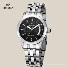 Высокое качество нержавеющей стали мужские часы с черным циферблатом 72127