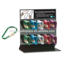 Suporte de exibição de anel de chaveiro de metal ou acrílico, Suporte de porta de chaveiro de chave de publicidade Suporte de exibição