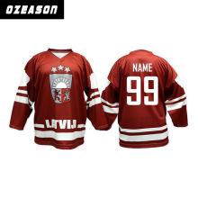 Jersey de hockey personalizado de sublimación para Jersey deportivo de hockey sobre hielo
