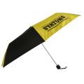 spezieller kundenspezifischer Logodruck 3-facher Regenschirm aus Nylongewebe mit Tragetasche