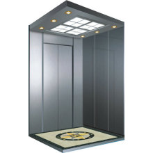 Luxury passenger elevator with small machine-room