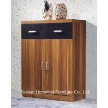 Durable 2 puertas + 2 cajones de madera Show gabinete (HHSR04T)