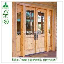 Porte en bois à double façade en pin noueux Swing