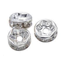 SP05 verre strass bord ondulé rondelle entretoise connecteur perle en vrac 12mm