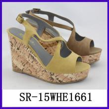 Mode Strappy Gelee Keil Schuhe benutzerdefinierte Keil Schuh Damen Schuhe Keile