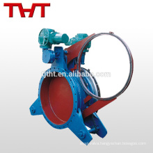 high quality fan shaped cast steel penumatic flange blind plate valve
