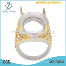 Latest design men's indonesia boss finger ring four sharp claw ring made by 316L stainless steel