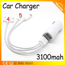 Universal Car Chargers with Multi USB Charger Cable for Mobile Phones/ Car Battery Charger