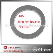 High Grade Customized Ring 40M NdFeB Magnets for Speaker