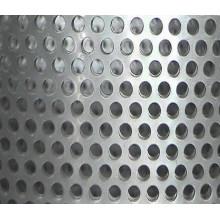 Feuille de perçage recouvert de zinc et garniture de métal perforé