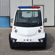 Hot Sale 2 4 Seaters Low Speed Electric Closed Style Street Laminated Glass Small Police Patrol Car with Ce SGS Certificate
