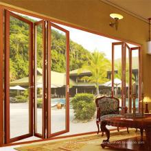 Горячая Продажа шумоизоляция алюминиевой сад гармошка раздвижные двери (фут-Д75)