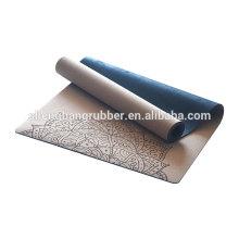 Professional Manufacturer OEM brand Double Layer Woman non slip portable eco friendly cork yoga mat