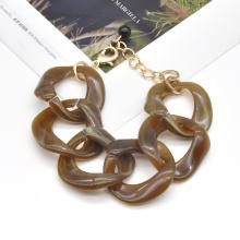 2020 2021 chunky adjustable length clear acrylic retro cuban tennis chain bracelet