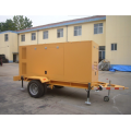 Double wheels trailer silent generator set 150KW/180KVA