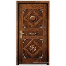 China puerta de madera y puertas de metal para ghana