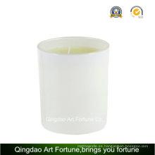 Vela perfumada de cristal para la decoración del banquete de boda