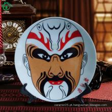 China Design mão branca decorativa feitos placas cerâmicas