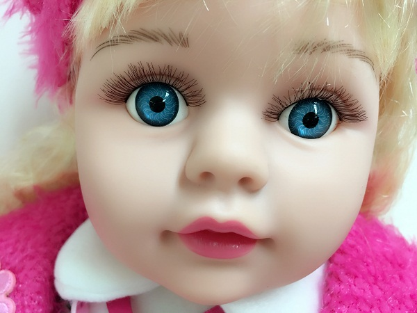 Big Blue Eyes Vinyl Doll