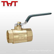 aluminum type lever brass ball valve with drain nipple