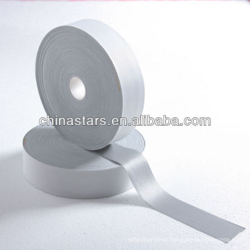 High visibility silver elastic reflective fabric