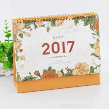 Calendario de escritorio personalizado profesional de impresión a todo color