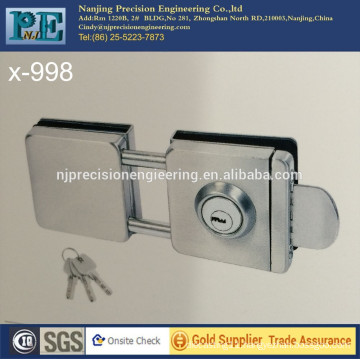 statin brushed stainless steel 304 double square head double glass door lock