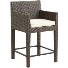 Taburete de la silla del Bar de Patio al aire libre de la rota de mimbre de jardín muebles