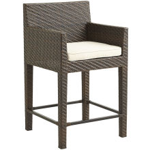 Garden Wicker Furniture Outdoor Rattan Patio Bar Chair Stool