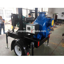 pompe d'irrigation avec remorque et pompes à moteur diesel