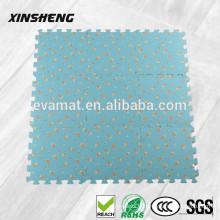 Tapis de sol décoratifs en caoutchouc de haute qualité, tapis de caoutchouc antidérapant de tatami de mousse d'EVA