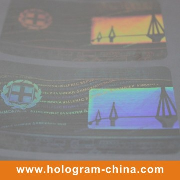 Transparent Drivers License Hologram Sticker