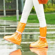 Venda quente durável eco-friendly PVC botas de chuva capa ao ar livre à prova d 'água anti-slides capa de chuva para sapatos