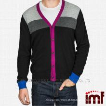 Moda Botão Estilo Mens Cashmere Cardigan Sweater