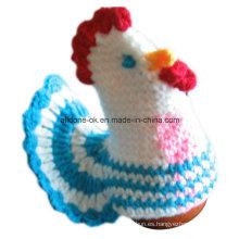 Calentador de huevo acogedor del huevo del pollo de ganchillo Acogedor del huevo acogedor del huevo