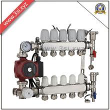 Separador de distribución de agua anticorrosión para sistema de calefacción por suelo radiante (YZF-L148)