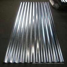Feuille de toiture ondulée en zinc