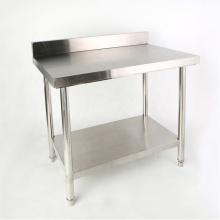 Кухонный рабочий стол из нержавеющей стали с фартуком