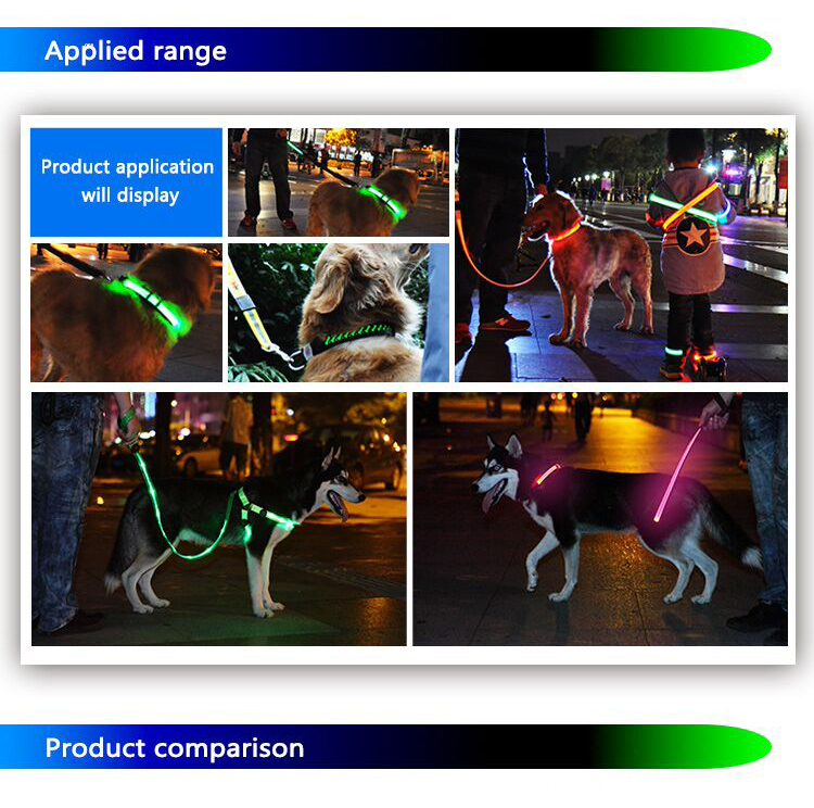 Led Light Up Dog Collar Rechargeable