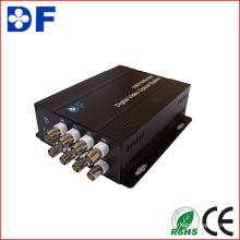 Venta caliente HD-Cvi / HD-Sdi / Ahd / Tvi al convertidor de video con convertidor óptico de fibra de 8 canales