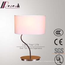 Lampe de table de chevet de forme d'acier inoxydable de S pour le projet d'hôtel