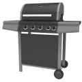 Four Burner Gas Barbecue Grill with side burner