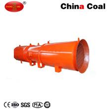 Túnel de minería subterránea de bajo ruido Ventilación de flujo axial Ventilación local