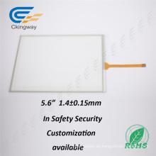 Cubierta de vidrio + Sensor de vidrio 5.6 LCD Resistiva película táctil para el sistema de seguridad
