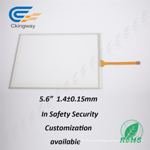 Cover Glass+Sensor Glass 5.6 LCD Resistive Touch Foil Film for Security System