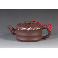Bian Zhu Hu Bambus Form Yixing Lila Ton Teekanne