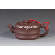 Bian Zhu Hu Bamboo Shape Yixing Purple Clay Teapot