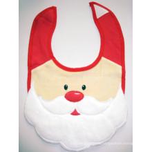 Baberos promocionales del bebé de la Navidad del delantal del babero del babero del padre Christmad del babero del bebé de Santa